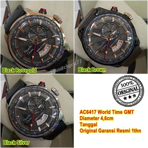 Promo Alexandre Christie Ac 6457 Pria Brown Black Original promo jam tangan pria alexandre christie ac6417 world time gmt