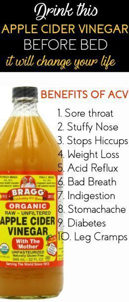 Is Acv A Detox To Drink Before Bed by Drink Apple Cider Vinegar Before Bed It Will Change Your
