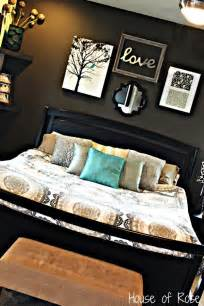 Home Decor Bedroom Ideas Master Bedroom Wall Makeover Love The Colors And Set Up