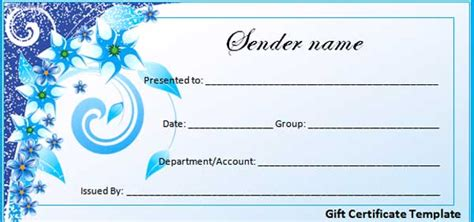 best photos of gift certificate template microsoft office