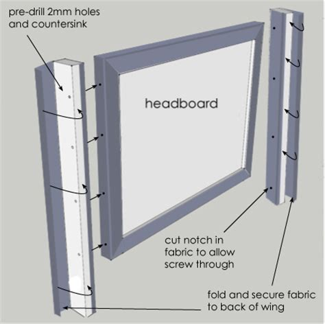 How To Make A Winged Headboard by Home Dzine Bedrooms Diy Wingback Headboard