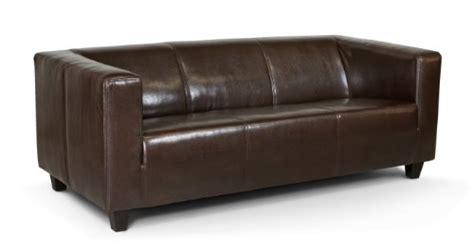 Moderne Ledersofas 339 by B 3 Sitzer Sofa Kuba 186 X 88 Cm Glanzleder Braun