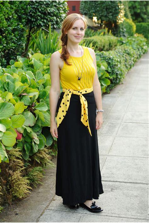 black maxi skirt tj maxx skirts yellow tank top gap tops