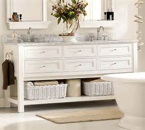 White the clean color choice for modern and cottage bathroom vanities