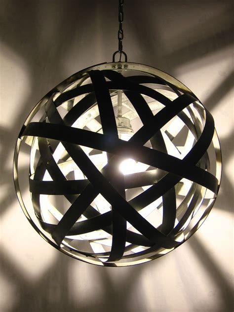 Recycled Light Fixtures Orbits Chandelier Recycled Wine Barrel Metal Hoops