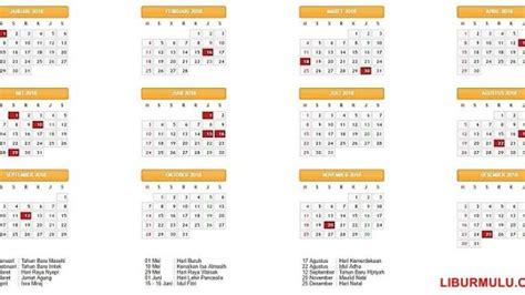Kalender 2018 Menteri Pemerintah Tetapkan Hari Libur Nasional Dan Cuti Bersama Tahun