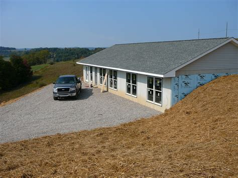 berm houses most inexpensive style of home to build 1400sf with garage