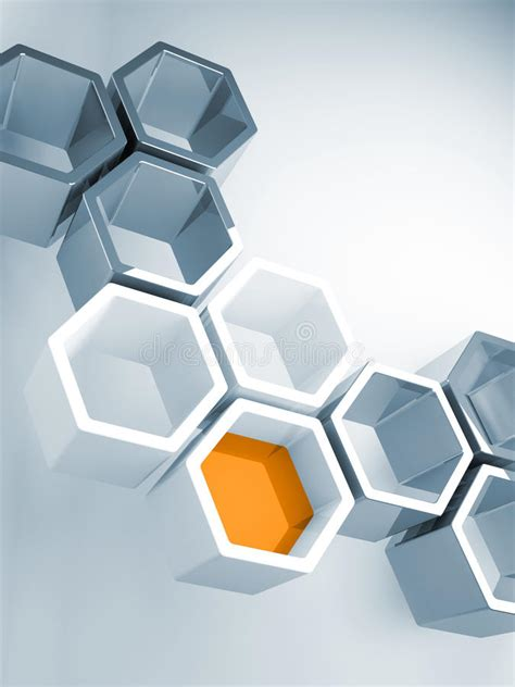 design concept honeycomb hi tech concept with honeycomb structure stock