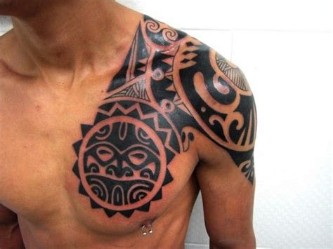 chest tattoo being done 25 best ideas about men tribal tattoos on pinterest