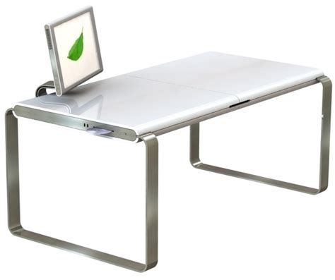 Modern Minimalist Desk Mac Pc Hybrid Desk 11 Modern Minimalist Computer Desks Image 19 Interior Design Center Inspiration
