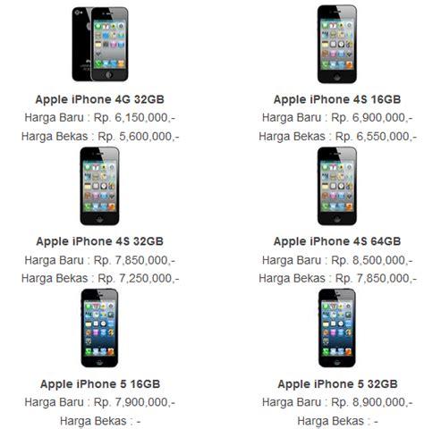Hp Iphone 4 Yang Bekas informasi harga iphone apple bekas second