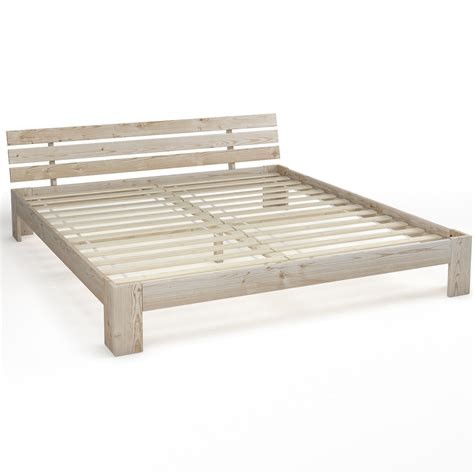 Wooden Double Bed 180x200 Cm Solid Wood Bed Frame Incl Unfinished Wood Bed Frame