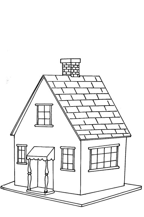 houses colouring pages