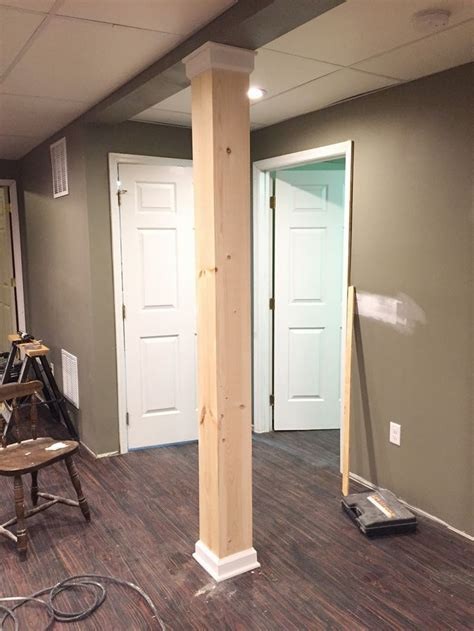basement wrap best 25 basement pole ideas on within lally column cover design 19 kmworldblog