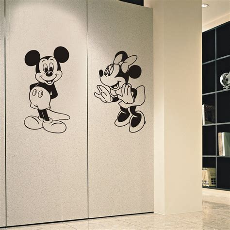 hot mickey mouse minnie vinyl mural wall sticker decals jjrui mickey mouse minnie vinyl mural wall sticker decals