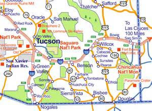 map of southern arizona cities city of rocks map of arizona