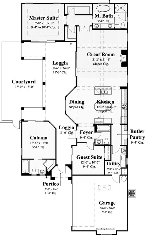 style floor plans house plans covered lanai on courtyard house