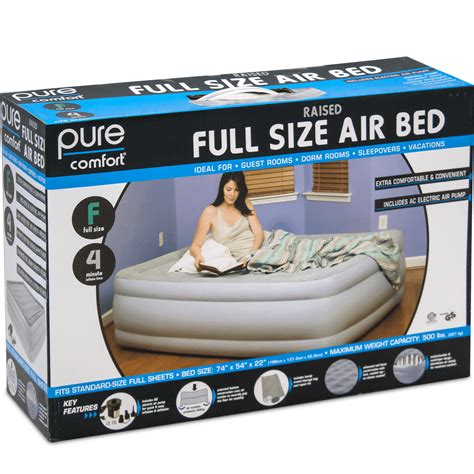 pure comfort air mattress pure comfort air bed pump