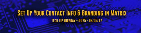 Tuesdays Tech Tip Barcoded Contact Details tech tip tuesday 075 set up your contact info