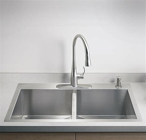"KTS3321D  33"" Top Mount Kitchen Sink Vancouver DOUBLE BOWL"