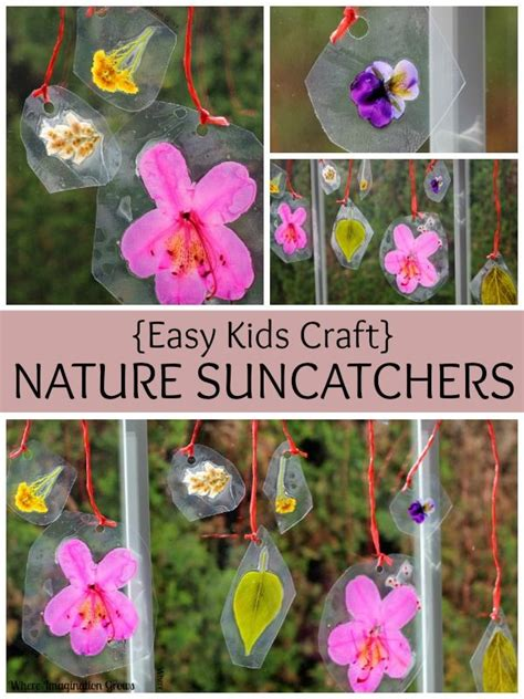 easy crown craft for kids where imagination grows spring flower art for kids diy nature suncatchers