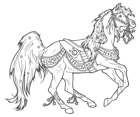 coloring pictures of carousel horses carousel coloring pages coloring home