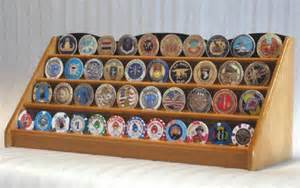 coin display rack four row challenge coin displays