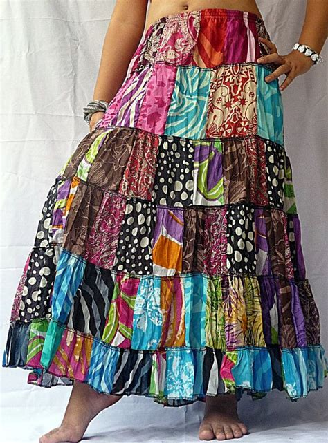 Patchwork Hippie Skirts - 17 best ideas about patchwork skirts on hippie