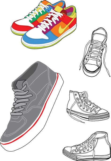 sport shoes vector sports shoes and canvas shoes vector vector
