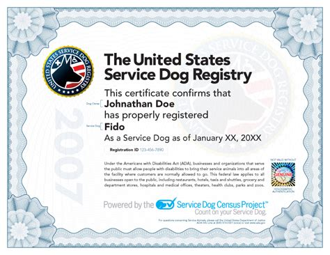certification for service dogs service certificate