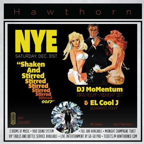 james bond themes by year new year s eve with dj momentum el cool j shaken