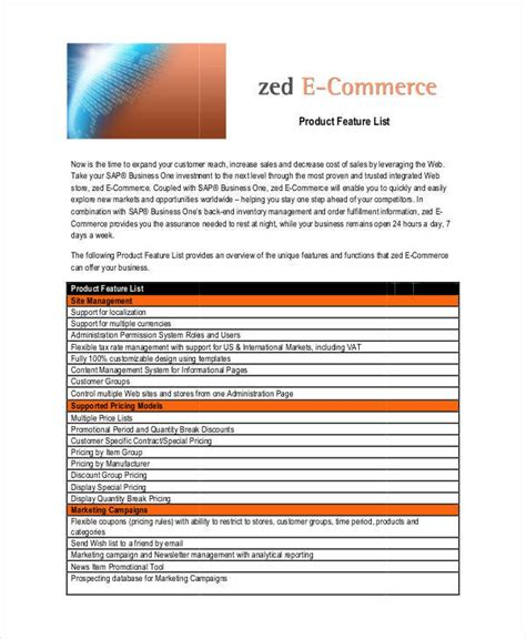 product list template html product list template 8 exles in word pdf