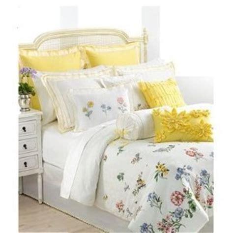 yellow floral comforter com lenox flowering meadow queen comforter set