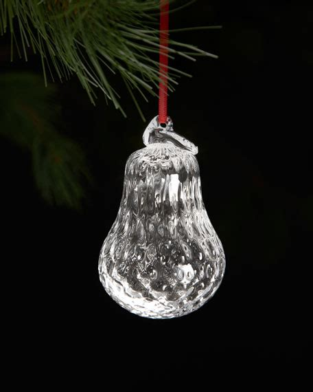 simon pearce royalton pear christmas ornament