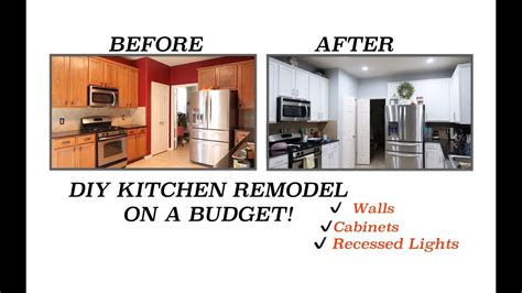 updating kitchen cabinets on a budget diy kitchen remodel updating our kitchen on a budget