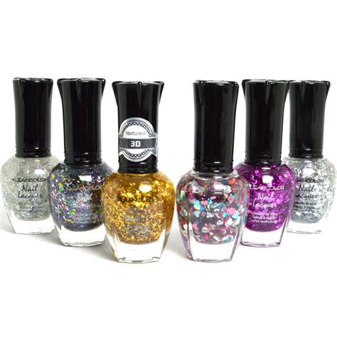 klean color kleancolor nail glitter half collection lot of 6