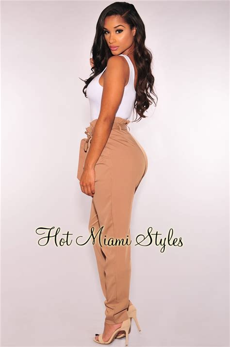 Hw Highwaist Mocca mocha high waist belted
