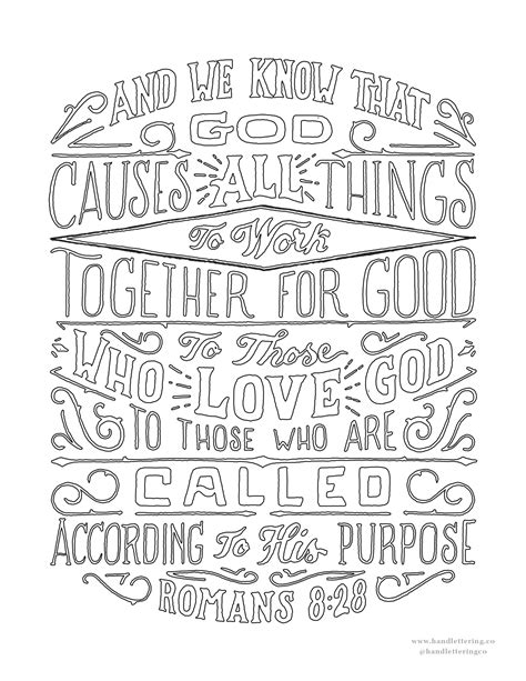 Romans 8 Coloring Page by Romans 8 28 Scripture Type