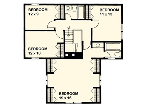 t shaped house floor plans t shaped farmhouse design 46158se 2nd floor master suite corner lot country farmhouse