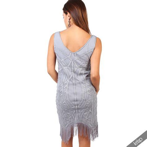 len 20er jahre damen 20er jahre fransenkleid perlenbesetztes kleid mini
