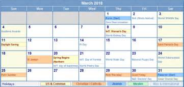 Calendar 2018 South Africa With Holidays March 2018 Calendar With Holidays South Africa Calendar