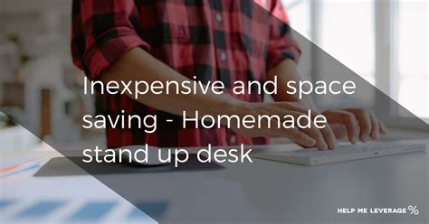 stand up desk inexpensive and space saving