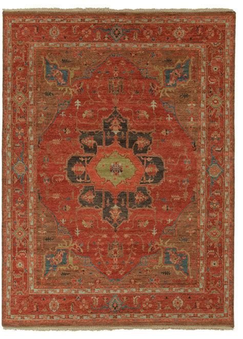 6x9 Wool Area Rugs Knotted Pattern Wool Blue Area Rug 6x9 Traditional Area Rugs By