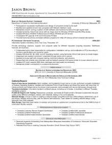 Information Systems Specialist Sle Resume by Entry Level Technical Support Resume Sales Support Lewesmr