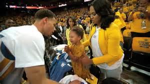 luke walton tattoo stephen curry s daughter does adorable victory dance after game 1 youtube