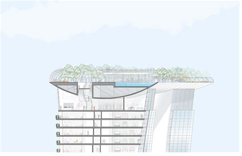 architectural bay section gallery of marina bay sands safdie architects 30