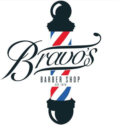 free design shop logo new bravo s barber shop logo prototype barbershop ideas
