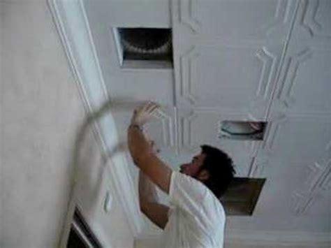 styrofoam ceiling tiles installation covers popcorn