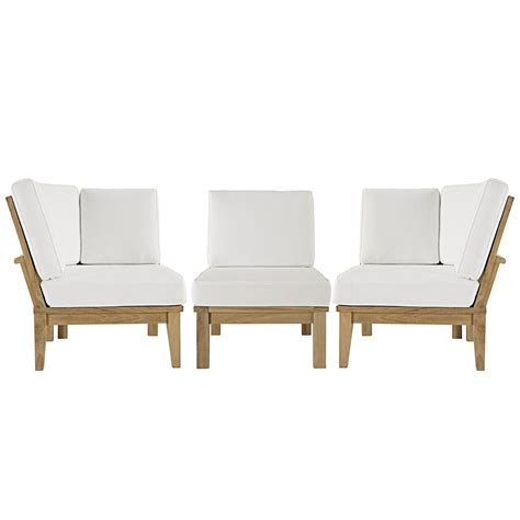 teak outdoor sectional sofa modern contemporary 3 pc outdoor teak sofa set