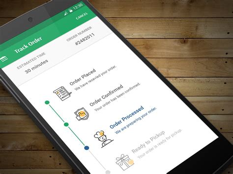 android timeline create food order tracking app using android timeline view library geekonjava